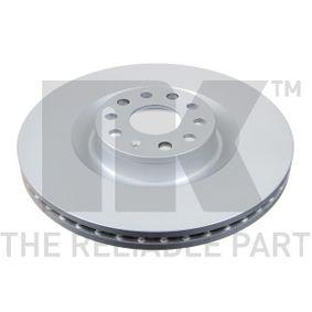 Спирачен диск NK Art.No - 314786 OEM: 1K0615301AB за VW, AUDI, SKODA, SEAT купете
