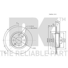 8200123117 für RENAULT, DACIA, RENAULT TRUCKS, Bremsscheibe NK (313939) Online-Shop