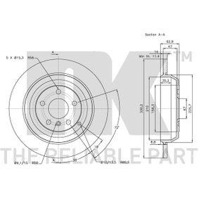 A1644231212 за MERCEDES-BENZ, DAIMLER, Спирачен диск NK (313391) Онлайн магазин