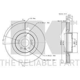 A1644210512 за MERCEDES-BENZ, Спирачен диск NK (313393) Онлайн магазин