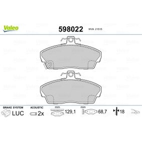 VALEO Комплект спирачно феродо, дискови спирачки GBP90315AF за HONDA, SKODA, LAND ROVER, ROVER, MG купете
