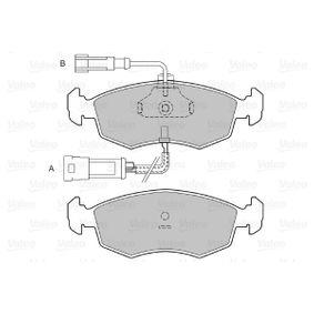 VALEO Bremsbelagsatz, Scheibenbremse 9948870 für FIAT, ALFA ROMEO, LANCIA bestellen