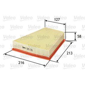 VALEO SEAT IBIZA Filtro de aire (585136)