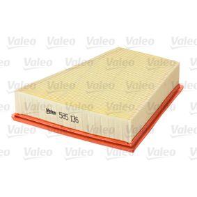 Filtro de aire VALEO (585136) para SEAT IBIZA precios