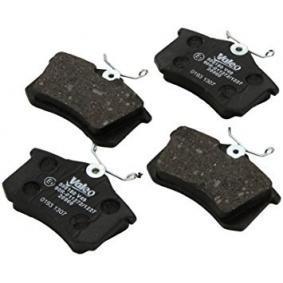VALEO Bremsbelagsatz, Scheibenbremse 1J0698451F für VW, AUDI, FORD, RENAULT, SKODA bestellen