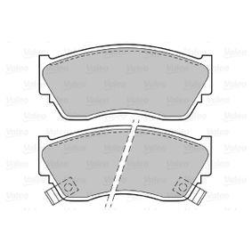 VALEO Bremsbelagsatz, Scheibenbremse 4106050Y90 für HYUNDAI, NISSAN bestellen
