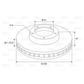 VALEO Bremsscheibe 7701206614 für RENAULT, NISSAN, DACIA, RENAULT TRUCKS bestellen