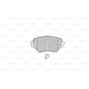 VALEO Bremsbelagsatz, Scheibenbremse N0Y93323Z für MAZDA, MERCURY bestellen