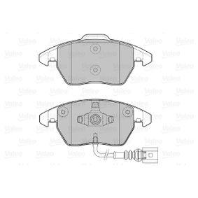 VALEO Kit de plaquettes de frein, frein à disque 8J0698151C pour VOLKSWAGEN, AUDI, SEAT, SKODA acheter