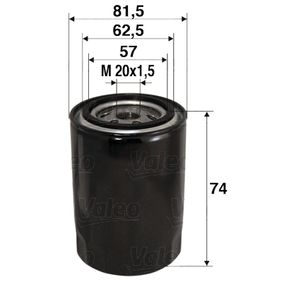 Oil filter VALEO (586017) for MAZDA 6 Prices
