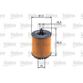 VALEO OPEL VECTRA Filtro de aceite (586563)
