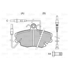VALEO Bremsbelagsatz, Scheibenbremse 7701205411 für RENAULT, DACIA, SANTANA bestellen