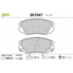 Bremsbelagsatz, Scheibenbremse VALEO Art.No - 601047 OEM: 1605624 für OPEL, CHEVROLET, SAAB, VAUXHALL, HOLDEN kaufen