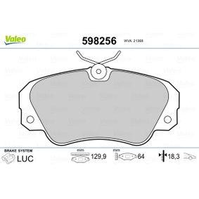 Bremsbelagsatz, Scheibenbremse VALEO Art.No - 598256 OEM: 1605004 für OPEL, CHEVROLET, SAAB, CADILLAC, VAUXHALL kaufen