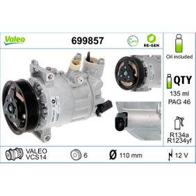 VALEO Kompressor, Klimaanlage 1K0820808B für VW, AUDI, SKODA, SEAT, VOLVO bestellen