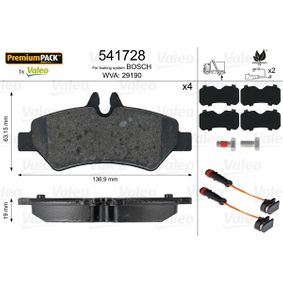 VALEO Bremsbelagsatz, Scheibenbremse A0044206920 für VW, MERCEDES-BENZ bestellen
