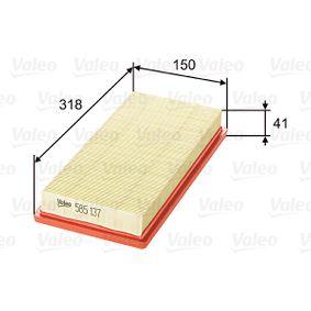 Filtro de aire VALEO (585137) para FIAT STILO precios
