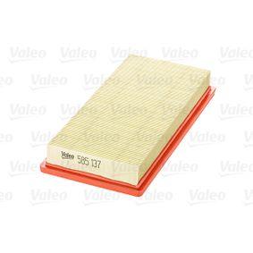 Filtro de aire (585137) fabricante VALEO para FIAT STILO (192) año de fabricación 01/2004, 95 CV Tienda online