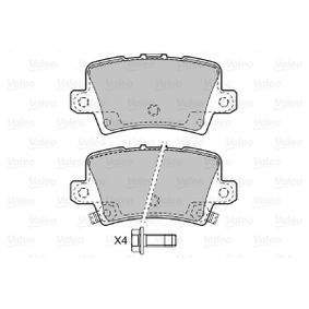 VALEO Brake pad set 598849