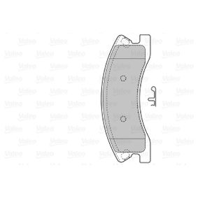 Bremsbelagsatz, Scheibenbremse VALEO Art.No - 598833 OEM: 5093260AA für PEUGEOT, ALFA ROMEO, JEEP, CHRYSLER, DODGE kaufen