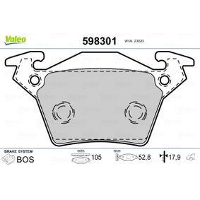 Bremsbelagsatz, Scheibenbremse VALEO Art.No - 598301 OEM: A0004214210 für MERCEDES-BENZ kaufen