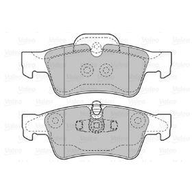 Комплект спирачно феродо, дискови спирачки 598802 VALEO