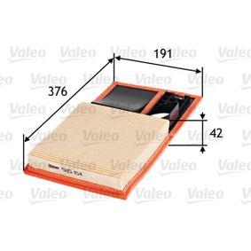 Luftfilter VALEO Art.No - 585154 OEM: 036129620J für VW, AUDI, SKODA, SEAT kaufen