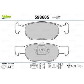 VALEO Brake wear indicator 598605