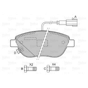 VALEO Bremsbelagsatz, Scheibenbremse 77362712 für FIAT, PEUGEOT, VOLVO, ALFA ROMEO, LANCIA bestellen