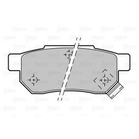 Комплект спирачно феродо, дискови спирачки 598053 VALEO