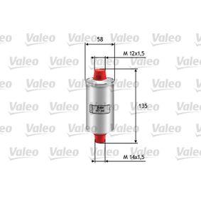 VALEO Filtro combustibile 587200