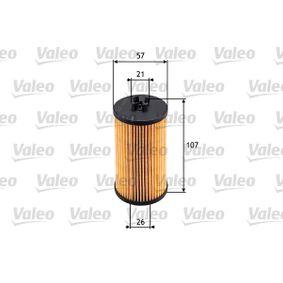 Filtro de aceite (586531) fabricante VALEO para CHEVROLET Aveo / Kalos Hatchback (T250, T255) año de fabricación 04/2008, 101 CV Tienda online