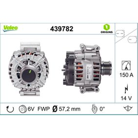 VALEO 439782 Generator OEM - 06H903016S AUDI, SEAT, SKODA, VW, VAG, AUDI (FAW), MOBILETRON günstig