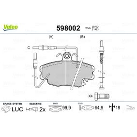 Blattfeder VALEO (598002) für RENAULT TWINGO Preise