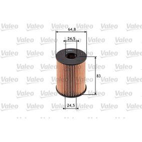 Filtro Olio Art. No: 586516 fabbricante VALEO per FIAT GRANDE PUNTO conveniente