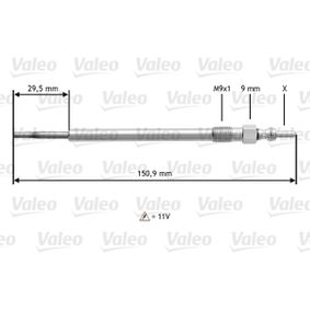 VALEO Glow Plug 1214034 for FORD, VAUXHALL, OPEL, CHEVROLET, DAEWOO acquire