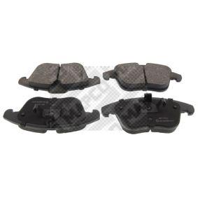 Bremsbelagsatz, Scheibenbremse ATE  nicht für Verschleißwarnanzeiger vorbereitet  mit Anti-Quietsch-Blech  Vorderachse  preiswert  6853