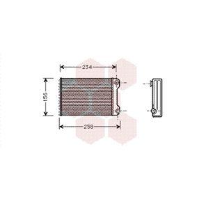 VAN WEZEL Heater matrix 17006242