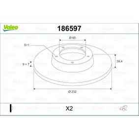 Bremsscheibe VALEO Art.No - 186597 OEM: 2Q0615601H für VW, AUDI, SKODA, SEAT kaufen