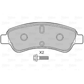 Brake Pad Set, disc brake VALEO Art.No - 598464 OEM: 1613192280 for PEUGEOT, CITROЁN, DS, PIAGGIO buy