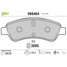 VALEO Brake Pad Set, disc brake 1613192280 for PEUGEOT, CITROЁN, DS, PIAGGIO acquire