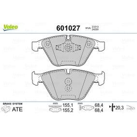 Bremsbelagsatz, Scheibenbremse VALEO Art.No - 601027 OEM: 34116794916 für BMW kaufen