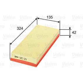 Air filter VALEO (585129) for FIAT PUNTO Prices