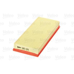 Air filter (585129) producer VALEO for FIAT PUNTO (188) year of manufacture 09/1999, 80 HP Online Shop