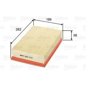 VALEO Въздушен филтър 585372