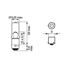 1 987 301 061 Bulb, tail light from BOSCH quality parts