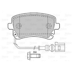 VALEO Bremsbelagsatz, Scheibenbremse 4F0698451C für VW, AUDI, SKODA, SEAT bestellen
