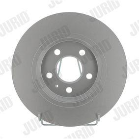 Bremsscheibe JURID Art.No - 562505JC OEM: 8K0615601M für VW, AUDI, SKODA, SEAT kaufen