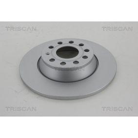 Спирачен диск TRISCAN Art.No - 8120 291001C OEM: 1K0615601AD за VW, AUDI, MAZDA, SKODA, SEAT купете