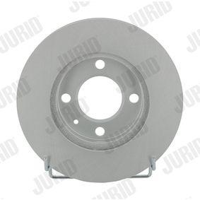 Bremsscheibe JURID Art.No - 561178JC OEM: 6N0615301G für VW, AUDI, SKODA, SEAT kaufen